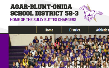 Agar-Blunt-Onida School District website