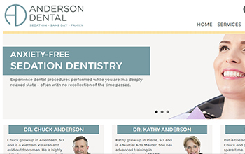 Anderson Dental website